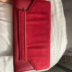 Aldo dark red clutch